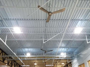 Commercial Fan Installation Project- Gold's Gym